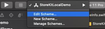 xcode-edit-scheme