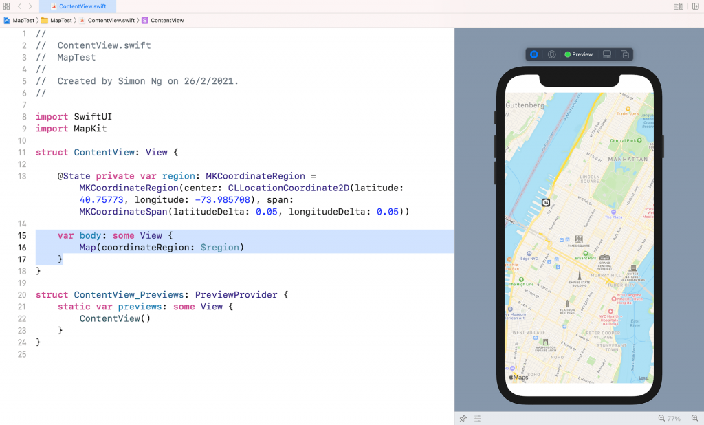 swiftui-map