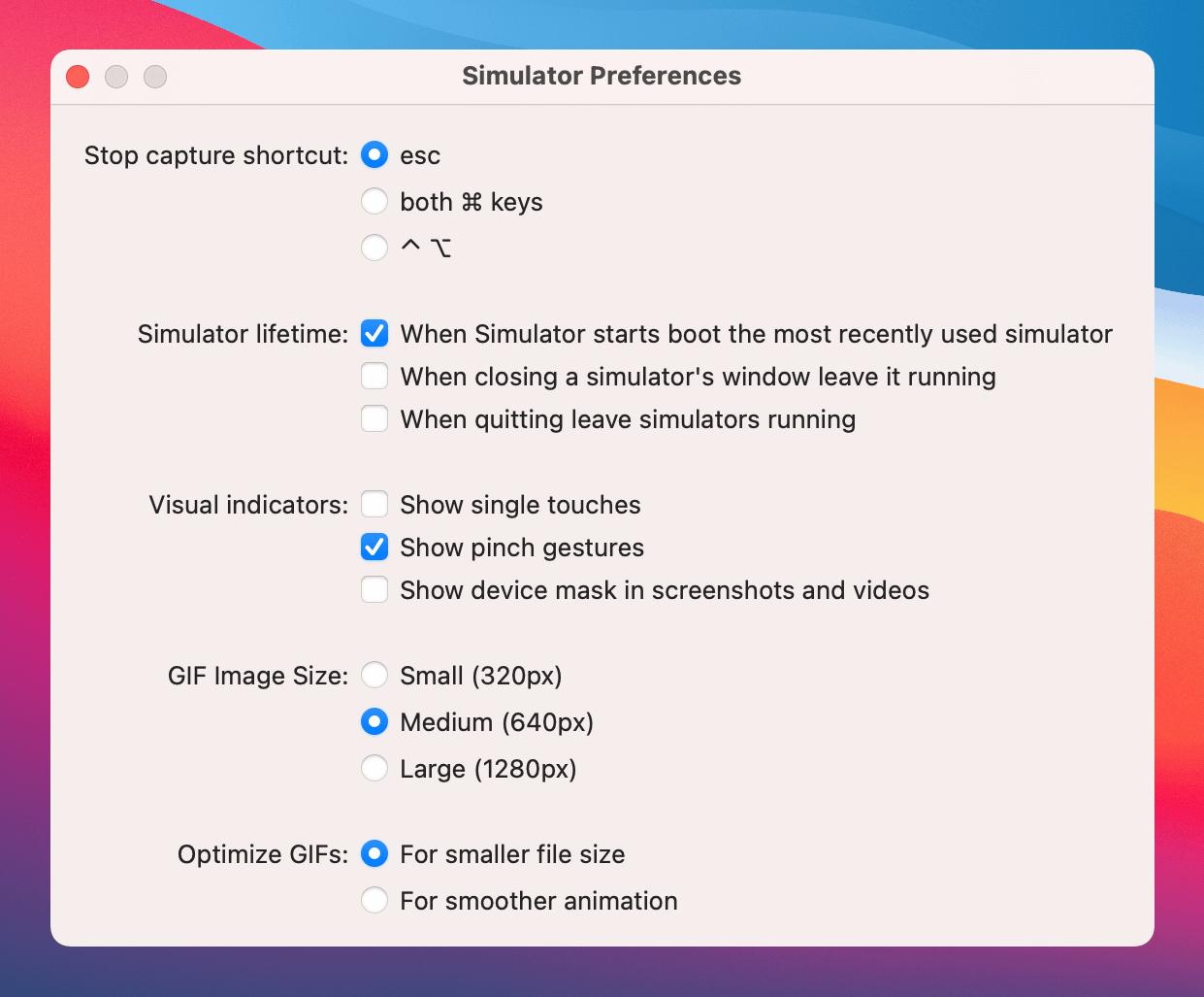 Xcode-12-simulator-preferences
