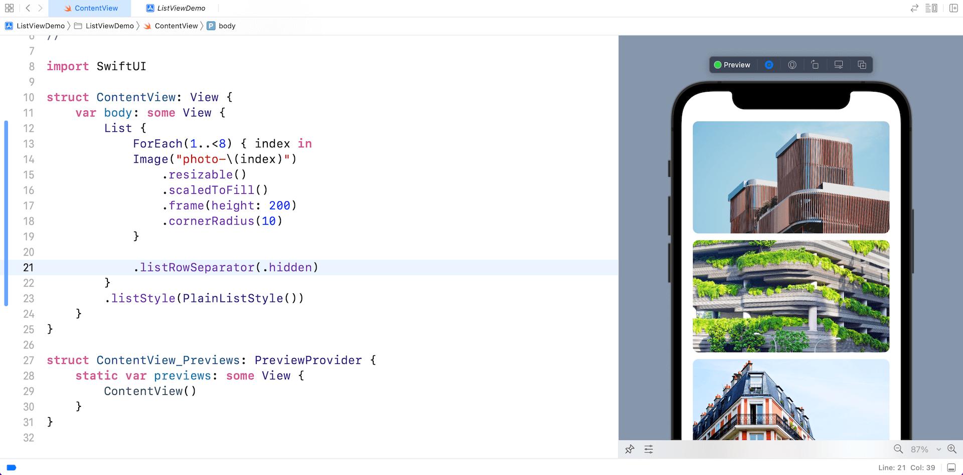 swiftui-list-line-separator-ios15